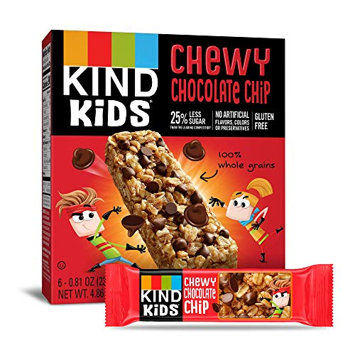 KIND Kids Granola Chewy Bar, Chocolate Chip, 6 Count (Pack of 8)