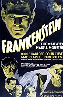 HSE Frankenstein the Man Who Made a Monster Movie Poster