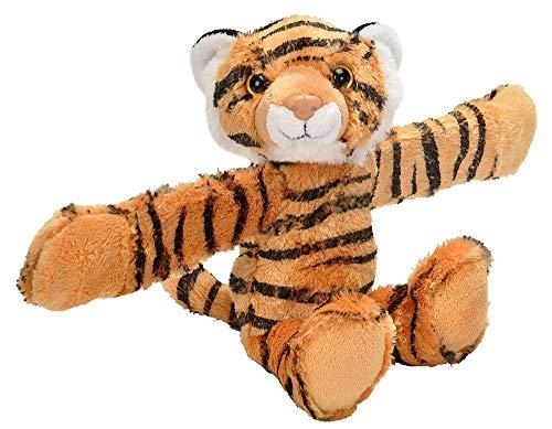 Wild Republic - Huggers, Tigre peluche con brazalete de presión integ