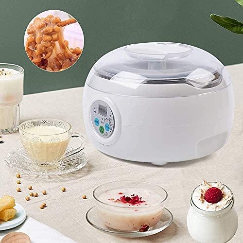 Meinirui - Máquina de yogur para helado con helado laminado con ruedas de yogur para yogur fritos (natto/arroz/máquina de vino)