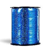 Molshine cinta de globo láser suave,de 500 yardas,rollo de cuerda de globo rizado brillante para bricolaje,fiestas,decoración de bodas, embalaje de regalo (azul)