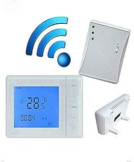 Topker 433MHZ termostato inalámbrico de la Caldera de Gas Control de RF 5A Termóstato de calefacción de la Caldera de Pare...
