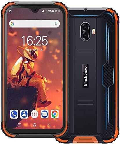 Blackview BV5900(2019) スマートフォン本体 5.7インチ 4G スマホ本体 SIMフリースマートフォン本体 Android 9.0 アウトドアタフスマホ 防水/防塵/耐衝撃 携帯電話 13MP+5MPデュアルカメラ 水中モード支持 3GBRAM+32GBROM 5580mAh simフリースマホ (オレンジ色)
