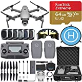 DJI Mavic 2 Pro Drone Quadcopter with Hasselblad Camera, 2 Batteries, 6 pc Filter Kit, SanDisk Extreme 64gb Memory Card, Aluminum Shock Proof Case, Landing Pad, Range Extender, 1 Year Limited Warranty