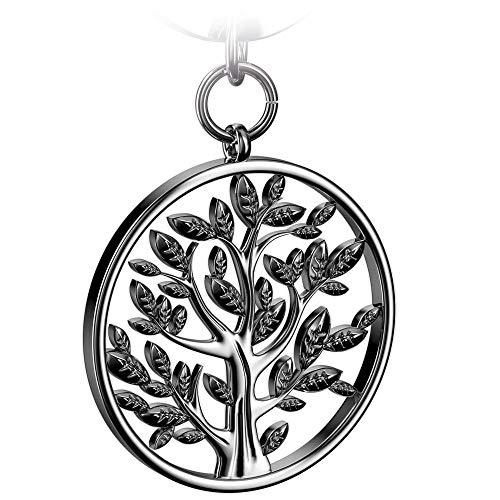 FABACH Lebensbaum Schlüsselanhänger Spring - Baum des Lebens Anhänger als Glücksbringer für den Schlüsselbund - Tree of Life Schlüsselanhänger in glänzendem Silber