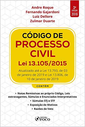 Código de Processo Civil: Lei 13.105/2015- 3ª edição - 2019