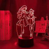 Luz nocturna 3D Anime Illusion LED Decorativa Anime Luz LED Bloom Into You Nightlight para dormitorio Decor Nightlight Manga Regalo de Cumpleaños Dormitorio 3D Night Lamp Bloom Into You