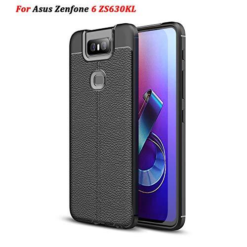 XunEda ASUS Zenfone 6 ZS630KL 6.4' Cover Custodia, Ultra Sottile Custodia in Sili+e Protettiva Antiurto Case + Pellicole Protettive per ASUS Zenfone 6 ZS630KL Smartphone(Nero)