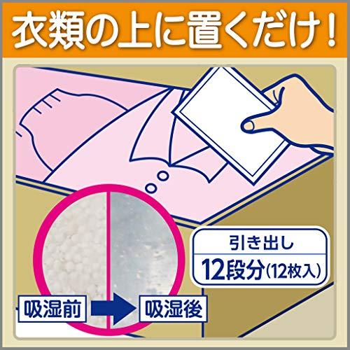 【まとめ買い】ドライペットシートタイプ引き出し・衣装ケース用(衣類・皮製品用)除湿剤お徳用12シート入×2個