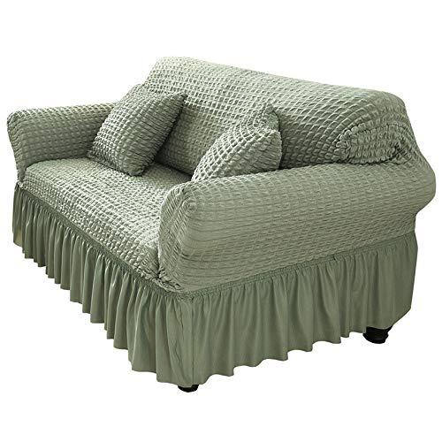 NOBCE Funda de sofá en Forma de L para Sala de Estar, Muebles elásticos, Funda para sofá, Funda para sofá de Esquina, Verde elástica 90-140CM