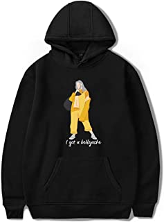 SERAPHY Billie Eilish Hoodie Bellyache Classic Style Sweatshirt Pullover Hip Hop Top for Youth