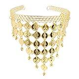Hellery Stilvolle Münze Anhänger Stirnband Bauchtanz Tanzen Kopfbedeckung Für Frauen Mädchen - Gold