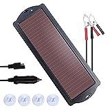 NUTAKI Solar Battery Charger 12 Volt Solar Panel Car Battery Trickle Charger Kit for 12V Batteries RV Motorcycle Boat Snowmobile...