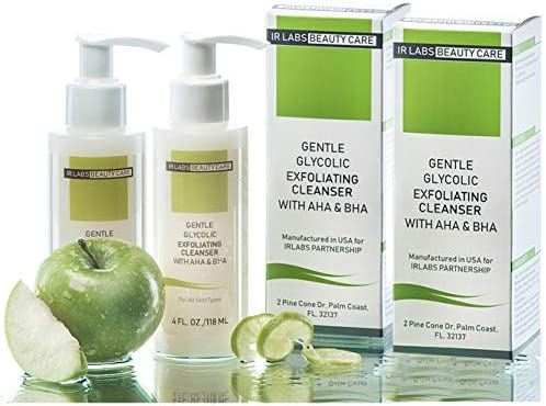 Exfoliating Face Wash With AHA And BHA Glycolic Acid Facial Cleanser Work For Anti Aging Problems product image