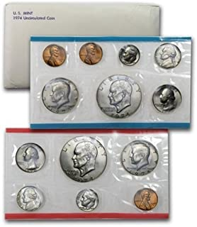 1974 US 13 Piece Mint Set In original packaging from US mint Uncirculated