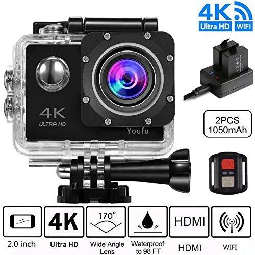 Videocamera fotocamera sport d'azione Full HD 1080P impermeabile LCD da 2,0 'a 120 °