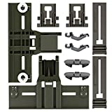 Upgraded 10 Pcs Polymer Material W10350375 Dishwasher Top Rack Adjuster, W10195840, W10195839, W10508950,W10082853 Dishwashers adjuster kit fits Replacement for Whirlpool Kenmore Dishwashers