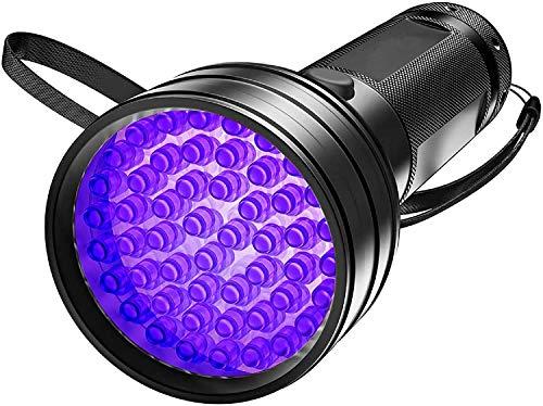 Tanouve Linterna Ultravioleta, Linterna UV 51 LED Luz Negra Linterna led alta potencia Anti-caída, Impermeable IPX4 para Manchas de Cocinas, Caza Escorpión