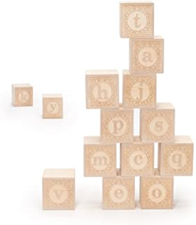 Uncle Goose Lowercase Alphablank Blocks - Made in The USA