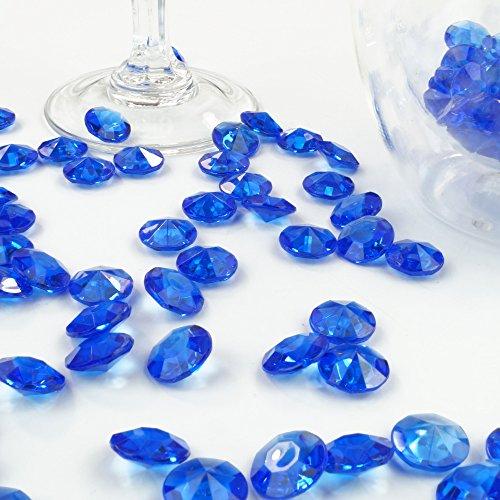 Deko-Diamanten 12 mm dunkelblau 100 Stück - Streudeko Deko Steine Kristalle Diamanten