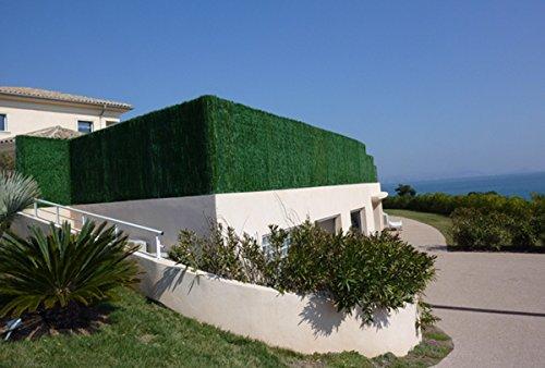 PEGANE Haie Artificielle/Brise Vue 110 Brins en PVC Coloris Vert pin, 2,00 m x 3 m