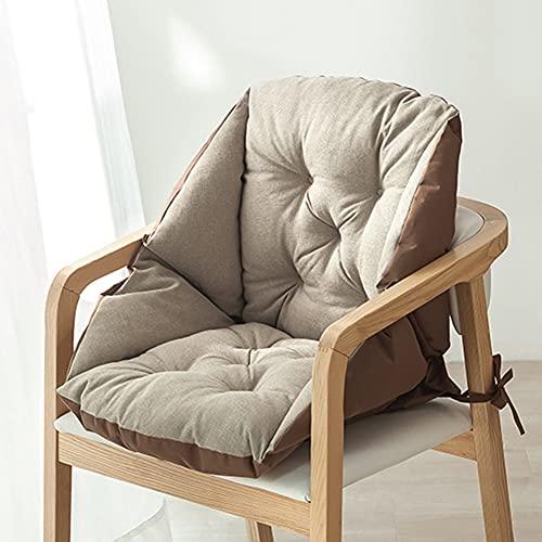 Fbewan - Conjunto de cojín de apoyo lumbar y cojines de asiento para alivio de la ciática, cojín de dolor en la parte inferior de la espalda, silla de oficina de coche, color negro (C1)
