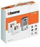 BTicino 365521 Kit Vivavoce Monofamiliare Composto da Videocitofono Classe 100V12B e Pulsantiera...