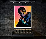Moderne Aquarell Kunst Leinwand Malerei Travis Scott Poster
