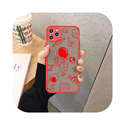 Fun-boutique - Carcasa para iPhone 12, diseño de Astronauta Druck, para iPhone 11 Pro 12 XS Max X 7 XR Se20 8 6 Plus