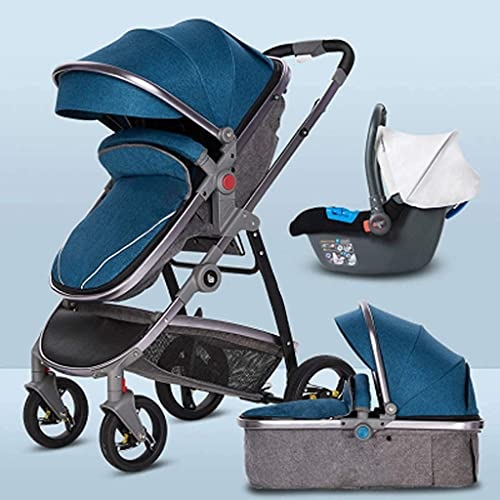 leoye BAIW - Cochecito de bebé convertible para cochecito, silla de paseo con funda para el pie, (color: azul)