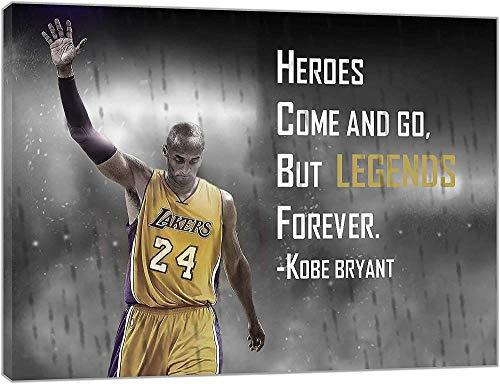 WADPJ Giocatore di Basket Kobe Bryant Poster Tela Pittura Moderna NBA Sport Soggiorno Decorazioni per la casa Stampa Picture Wall Art-50x70cmx1 Pezzi Senza Cornice
