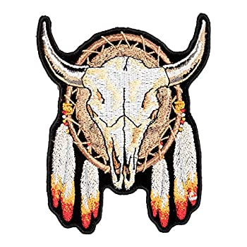 Steer Skull Dream Catcher Patch Small Size