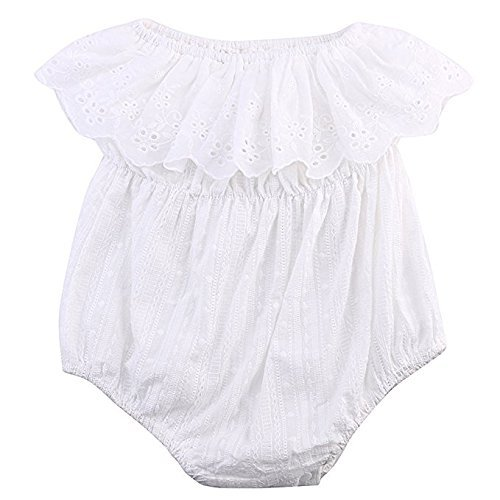 66a87c2eb Amazon.com  Charm Kingdom Baby Girl Romper Jumpsuit Off Shoulder ...
