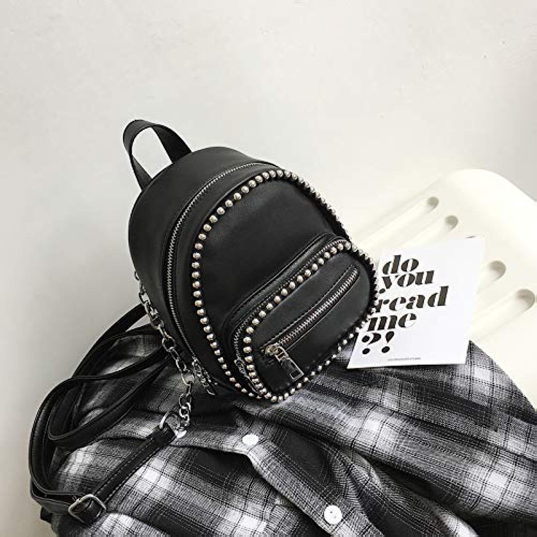 WANGZHAO Knapsack Backpack, Shoulder Bag, Women Bag, Satchel Bag, Chain Mini