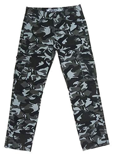 Pantalone Mimetico Militare Uomo Tasche Caccia Cacciatore Cotone Leggero Estivo (34 48 IT Uomo)