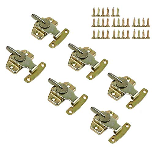 LepoHome 6 Pieces Metal Table Locks Dining Training Table Buckles Connectors Hardware Accessories - Brass Plated