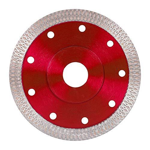 Disco de Diamante Hoja de Diamante 115mm Disco de Corte Porcelanico Profesional Corte en Seco Porcelánico Granito Cerámica Cuarcita Mármol(ROJO)