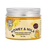 Leche, miel, cera para manos, cuidado de manos, mascarilla nutritiva para manos, hidratante y exfoliante, la cera para manos blanqueadora es adecuada para mejorar la piel de las manos