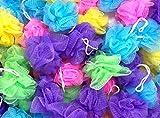 Loofah Lord 30 Mini Full Bodied Quality Bath or Shower Sponge Loofahs Pouf Mesh Assorted Colors Wholesale Bulk Lot