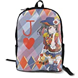 Love Live Magician Yazawa Nico School Backpack Lightweight Bookbags Students Schoolbag Travel Daypack Laptop Bag For Womens Mens