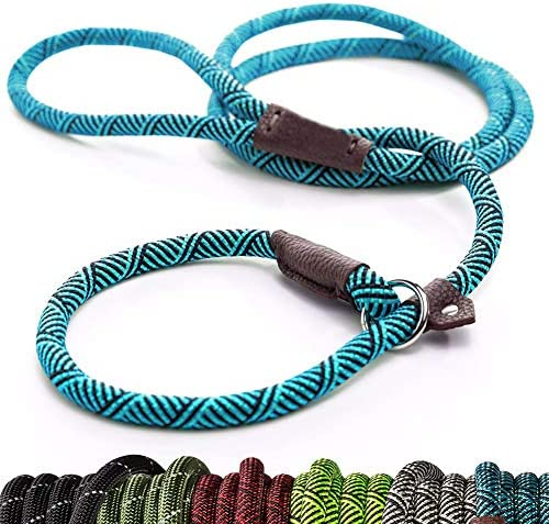 Extremely Durable Dog Rope Leash, Premium Quality Mountain Climbing Rope Lead, Strong, Sturdy Comfortable Leash Supports the Strongest Pulling Large Medium Dogs 6 feet
