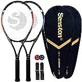 Senston Raquettes de Tennis 27'', 2 Raquettes Tennis Adulte, y Compris Sac de Tennis et Surgrip et Amortisseur de Vibrations