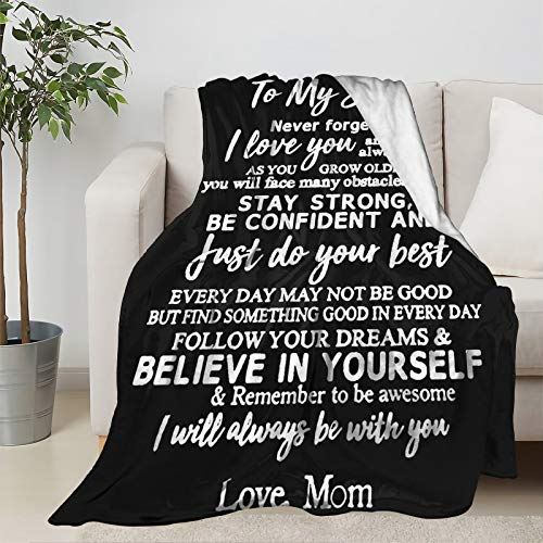 Fleece Blanket Throw To My Son I Love You Forever Lightweight Soft...