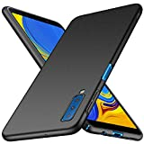 Galaxy A7 ケース 【LASTE】Galaxy A7 2018 ケース 軽量 スリム 耐久性 薄型 PC 指紋防止 耐衝撃カ Galaxy A7 レンズ保護 スマートフォンケース (ブラック)