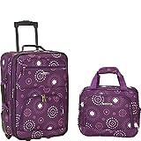 Rockland Fashion Softside Upright Luggage Set, Purple Pearl, 2-Piece (14/20)