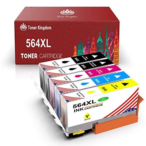 Toner Kingdom Compatible Ink Cartridge Replacement for HP 564XL for HP OfficeJet 4620 DeskJet 3520 3522 PhotoSmart 7510 7520 7525 5510 (2Black, 1 Cyan,Magenta,Yellow)