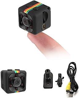 ICQUANZX Spy Camera, Verborgen Camera Mini Camera HD 1080P / 720P Spy Cam Draadloze Kleine Draagbare Nachtzicht Bewegingsd...