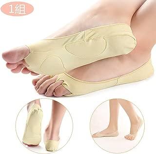 5本指フットカバー ソックス 靴下 指穴 開き ハーフソックス 夏用 むれない 足底クッション性 通気性 滑り止め付き(1組)