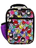 Disney Princess Emoji Girl's Soft Insulated School Lunch Box (One Size, Purple)