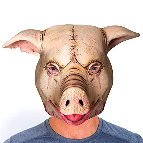 Halloween Scary Mask Horrible Pig Mask for Adult,Latex Animal Mask Costume Mask for Masquerade Cosplay